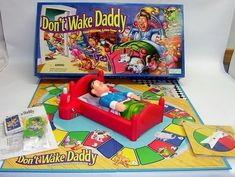"""Don't Wake Daddy---In retrospect this game was terrifying. Players must sneak into the kitchen to get food and not wake up """"daddy"""" — who must be an angry, abusive person that starved people. 