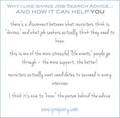 why give job search advice - http://www.prepary.com/giving-job-search-advice/