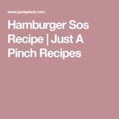 Hamburger Sos Recipe | Just A Pinch Recipes
