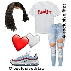 Swag Outfits For Girls, Cute Lazy Outfits, Cute Swag Outfits, Teenage Girl Outfits, Teen Fashion Outfits, Teenager Outfits, Trendy Outfits, Baddie Outfits Casual, Black Girl Fashion