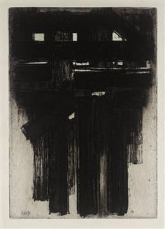 Untitled Intaglio - Pierre Soulages
