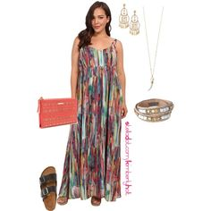Multi-color Maxi - plus size, created by kimberly-holt on Polyvore