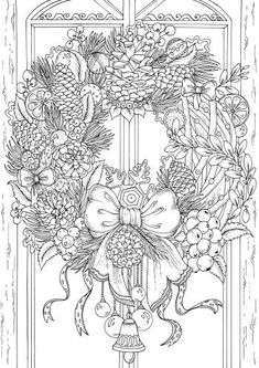 Tigers - Printable Adult Coloring Pages from Favoreads Our tigers are resting. The ideal moment to take your pencils and start working on this printable coloring sheet. Printable Adult Coloring Pages, Coloring Pages To Print, Coloring Pages For Kids, Coloring Books, Christmas Coloring Sheets, Printable Christmas Coloring Pages, Illustration Noel, Christmas Colors, Baby Boys