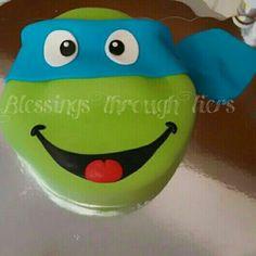 Leonardo. Birthday Cake. TMNT cake. Teenage Mutant Ninja Turtles. Blue