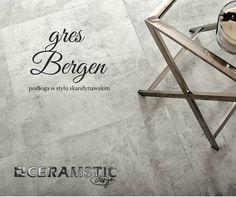 """Bergen satin floor tiles in grey and white colour, give a little """"snowy"""" finish to your home :) /Satynowe płytki podłogowe Bergen w kolorach szarym i białym dodadzą Twojemu domowi lekko """"śnieżnego"""" wykończenia :)"""