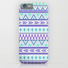 Tribal Pattern mint Green Purple phone cases by Tjc555