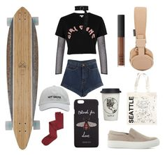 """""""think less, skate more"""" by izeloji on Polyvore featuring moda, Urbanears, Globe, Intimately Free People, PA5H, River Island, Dorothee Schumacher, Maptote, Natural Life ve WithChic"""