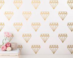 Diamond Wall Decals  Vinyl Wall Decals Diamond by KennaSatoDesigns