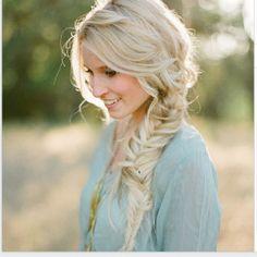 braided hair/ i really like this messy braid...