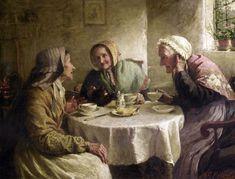 Mary Evelina Kindon (1855-1925) — Have you heard...? (1298x987)