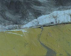 Abstract landscape mountain painting by Paul Bailey: Mountain path one