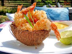 Кокосови скариди - camarones con coco