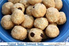 Cafeteria Peanut Butter Oatmeal Balls