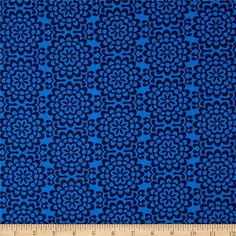 Amy Butler True Colors Wallflower Midnight from @fabricdotcom  Designed by Amy Butler for Westminster/Rowan, this cotton print is perfect for quilting, apparel and home decor accents.  Colors include shades of blue.