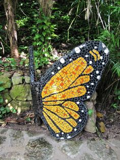 Butterfly mosaic sculpture by wallygrom, via Flickr