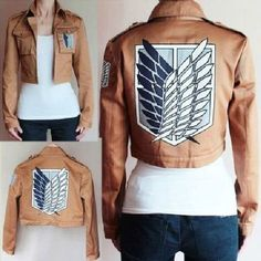 1PC Attack On Titan Shingeki... from bessky_cn on Wanelo. I don't watch the show but my friend has this jacket. She is always talking about it.