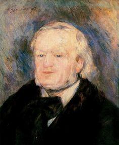 Richard Wagner, January 15, 1882, Auguste Renoir Óleo sobre lienzo. 53 x 46 cm.  Museo de Orsay. París. Francia.