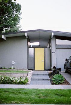 Eichler home - Orange   Escutcheon by Jarrett, Eichler house numbers