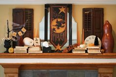 Halloween decorations : IDEAS & INSPIRATIONS  Halloween mantle decorating ideas