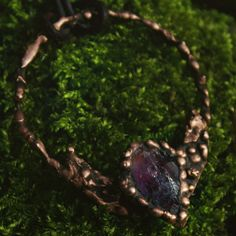 This handmade one of a kind copper necklace with a beautiful raw amethyst is now available... 🔮🔮🔮