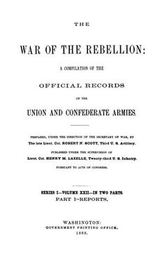 """Records of the War of the Rebellion include copies of army correspondence (reports, letters, telegrams, and general orders) from the Union and Confederate Armies.The first series contains formal reports which will be arranged """"according to the campaigns and several theaters of operations (in chronological order), the Union reports of any event will be followed by the Confederate accounts"""" (p. iii).  Index starts on page 927."""