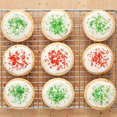 Our Butter Cookies are a holiday classic that will never fail to impress. To top it off, we coat our cookies in a cream cheese glaze and add sprinkles for festive color.