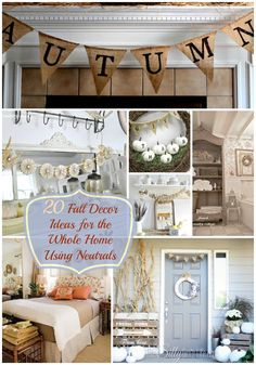 20 Fall Decor Ideas for the Whole Home Using Neutrals {The Weekly Round UP} - This Silly Girl's Life Thanksgiving Decorations, Seasonal Decor, Halloween Decorations, Fall Home Decor, Autumn Home, Outdoor Halloween, Fall Halloween, Fall Crafts, Decor Crafts