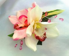 BRIDAL HAIR FLOWERS  Hawaiian Orchids Tropical Flower by MalamaPua, $29.99