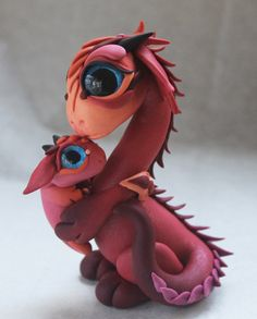Momma and Baby Dragon by BittyBiteyOnes