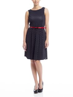 Patsy Dots Dress black