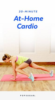 This at-home cardio workout is 20 minutes long, but we will keep you moving through the entire video. No equipment needed, but you might want a towel to mop your sweaty brow.