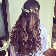 Best Ideas For Indian Bridal Makeup And Hair Beautiful Open Hairstyles, Spring Hairstyles, Bride Hairstyles, Bridal Makeup, Bridal Hair, Wedding Makeup, Hair Wedding, Wedding Dress, Medium Hair Styles