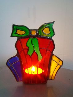 Stained glass prestents candle holder