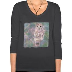Barred Owl Pastel Oilpainting T Shirt  Barred Owl Pastel Oilpainting T Shirt      $40.00   by  Tannaidhe  http://www.zazzle.com/barred_owl_pastel_oilpainting_t_shirt-235169945642531263    - - - Check out all my designs at Tannaidhe's Designs!  http://www.zazzle.com/tannaidhe?rf=238565296412952401&tc=MPPin