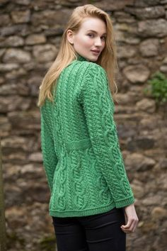 Aran Cardigan by Natallia Kulikouskaya for Arancrafts of Ireland