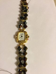 Elegant beaded watch. by GiGisGiftGallery on Etsy
