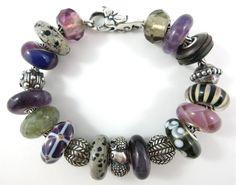 Trollbeads Summer Stones.... Amethyst and Dalmatian Jasper keep this design cool...