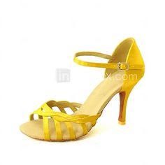 sandales latines personnalisables femmes satin chaussures de danse (plusieurs couleurs) - EUR €29.99 rouge!!! Talon à 6.3 parfait pour toute la journée. Et adaptée à la soirée dansante…