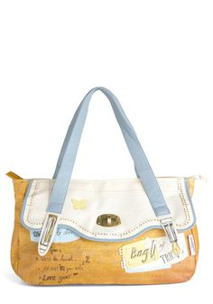 Homeroom Favorite Bag by Disaster Designs - Multi, Yellow, Blue, Tan / Cream, Buckles, Casual $76.99