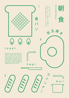 gurafiku:  Japanese Graphics: Making Breakfast. Ryo Kuwabara....