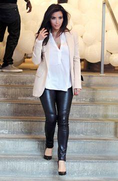 Kim Kardashian - cool elegant outfit