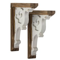American Art Dã©cor Wooden Corbels Shelf Brackets Vintage Farmhouse Decor (set Of 2 - Brown & White) photo ideas from NEO Home Decor Decor, Wooden Corbels, Art Shelves, Find Furniture, Wood Corbels, Shelf Brackets, Vintage Farmhouse Decor, Home Decor, Corbel Shelf