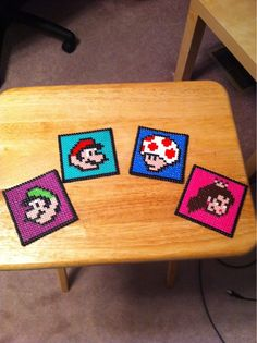 Mario perler coasters.