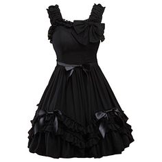 Partiss Women's Black Straps Neck Bow Chiffon Sweet Love Lolita Dress XXL Black Partiss http://www.amazon.com/dp/B01CU734WG/ref=cm_sw_r_pi_dp_5t85wb1QCNZVK