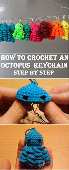 How to Crochet an Octopus Keychain Tutorial