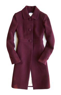 NWT J.Crew 2006 'Double-cloth Emily Coat' Aubergine Size 6 #JCrew #BasicCoat