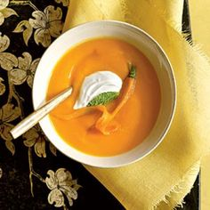 Carrot Soup with Yogurt Recipes