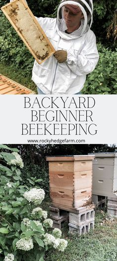 Backyard Beekeeping for Beginners - Ask Yourself These Questions Before You Get Bees # Gardening for beginners Backyard Beekeeping for Beginners - Rocky Hedge Farm Beekeeping For Beginners, Gardening For Beginners, Gardening Tips, Container Gardening, Fairy Gardening, Flower Gardening, Backyard Beekeeping, Backyard Sheds, Backyard Chickens