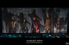 #Marvel [Guardians of the Galaxy] Star-Lord, Gamora, Drax, Groot, y Rocket Raccoon / Chris Pratt, Dave Bautista, Michael Rooker, Zoe Saldana, Ophelia Lovibond, John C. Reilly