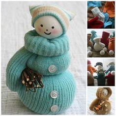 mitten snowman craft: